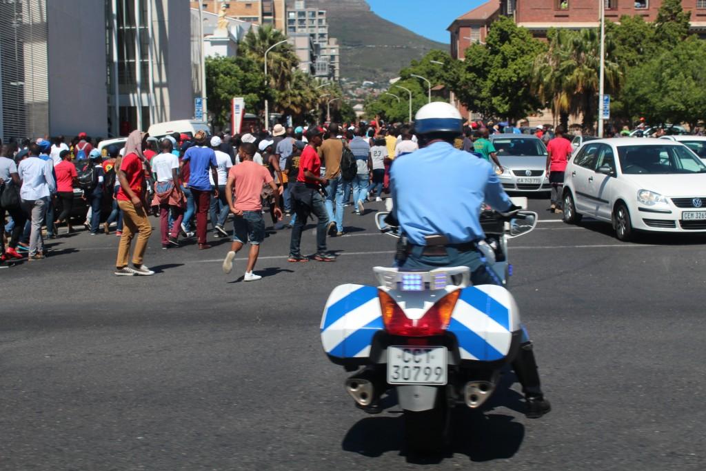 Studentendemonstration Kapstadt