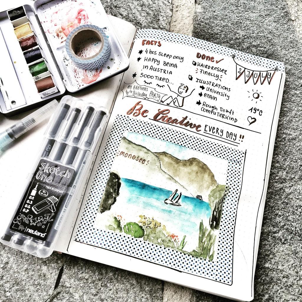 Bulletjournal Sketchnotes by Diana - Mondsee