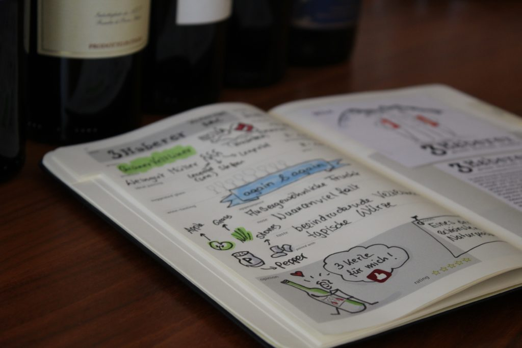 Moleskine Winejournal Sketchnotes by Diana