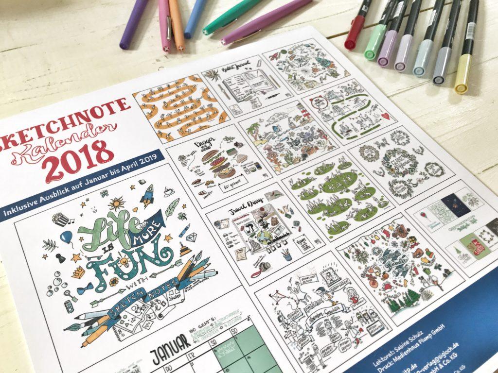 sketchnotes lernen mit dem sketchnote kalender 2018. Black Bedroom Furniture Sets. Home Design Ideas